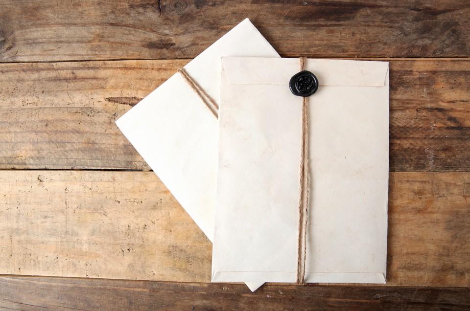 特別なレターはシーリングワックスで雰囲気◎。